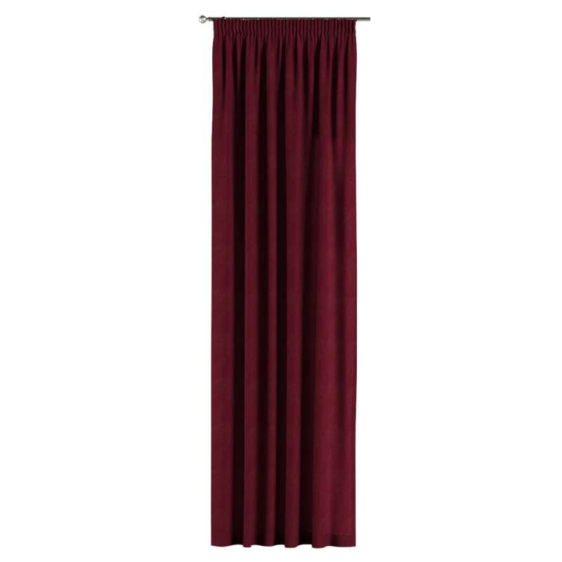 Pencil pleat curtain in collection Chenille, fabric: 702-19