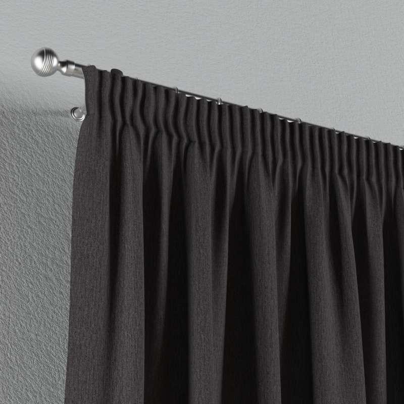 Gardin med rynkband 1 längd i kollektionen Chenille, Tyg: 702-20