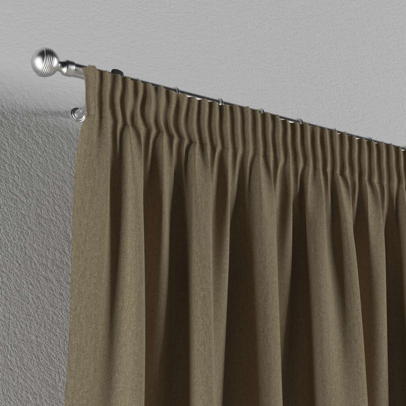 Pencil pleat curtains 130 x 260 cm (51 x 102 inch) in collection Chenille, fabric: 702-21