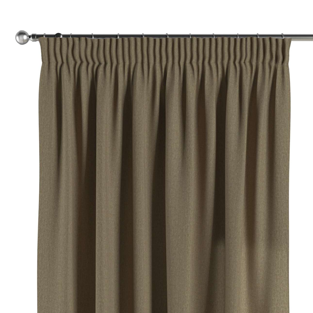 Pencil pleat curtains in collection Chenille, fabric: 702-21