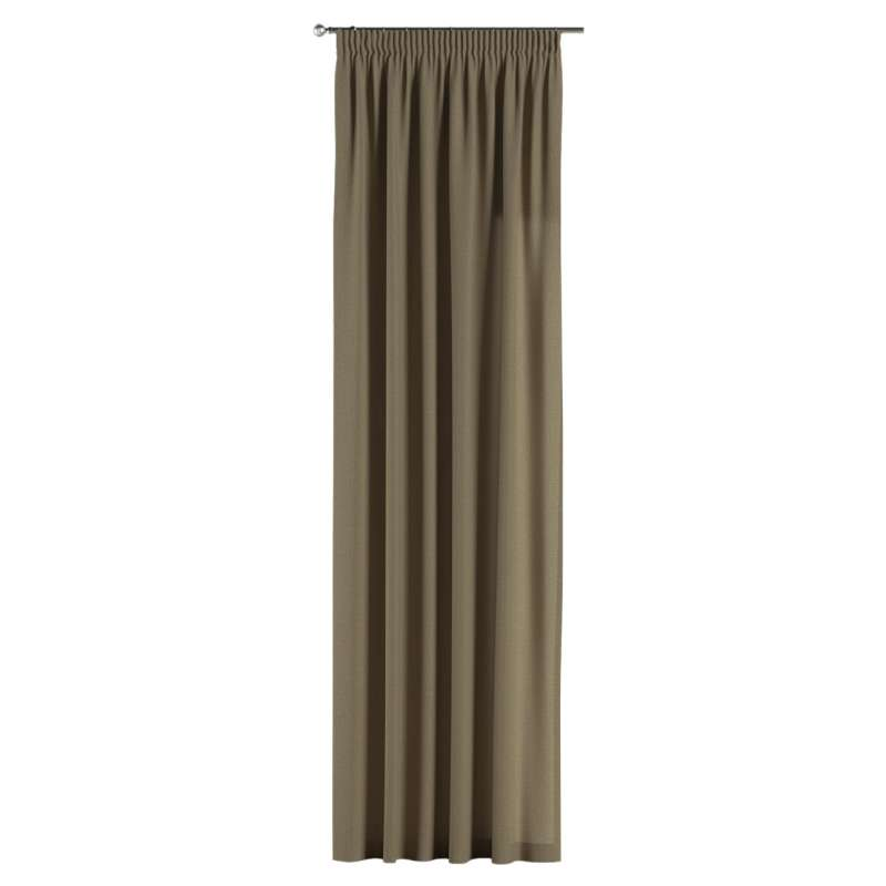 Pencil pleat curtain in collection Chenille, fabric: 702-21