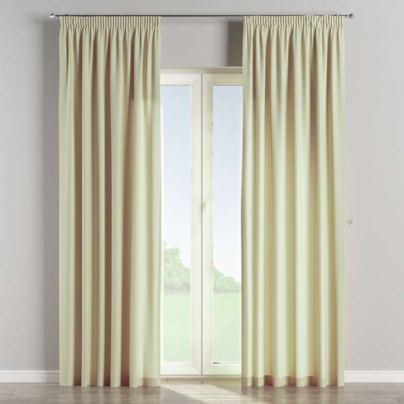 Pencil pleat curtain in collection Chenille, fabric: 702-22