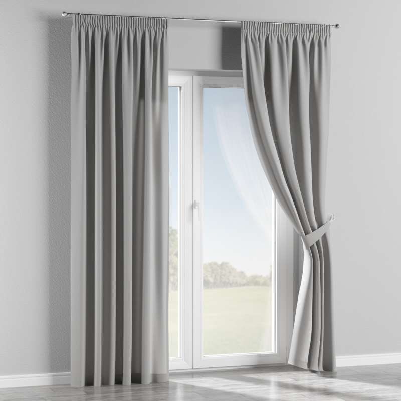 Pencil pleat curtain in collection Chenille, fabric: 702-23