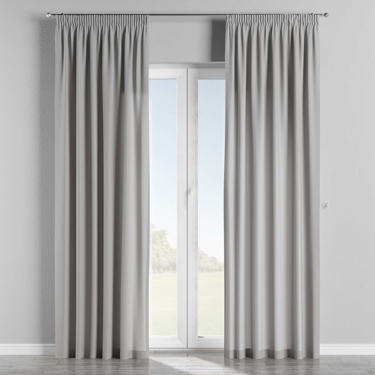 Pencil pleat curtains 130 x 260 cm (51 x 102 inch) in collection Chenille, fabric: 702-23