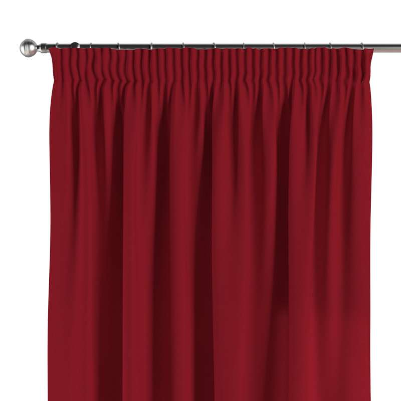 Pencil pleat curtain in collection Chenille, fabric: 702-24