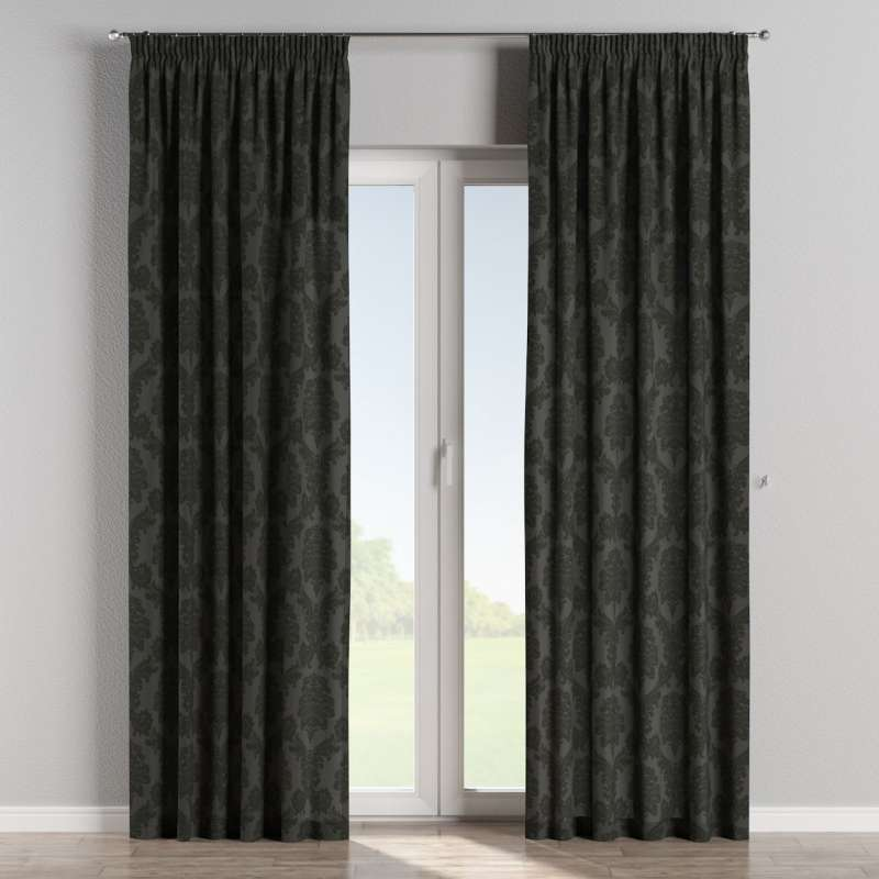 Pencil pleat curtain in collection Damasco, fabric: 613-32