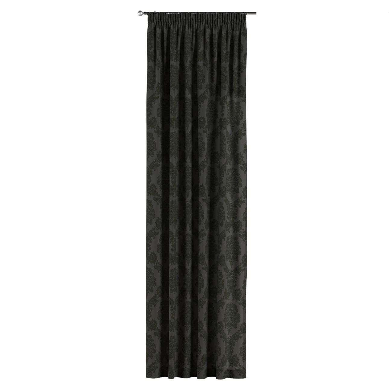 Gardin med rynkband 1 längd 130 x 260 cm i kollektionen Damasco, Tyg: 613-32