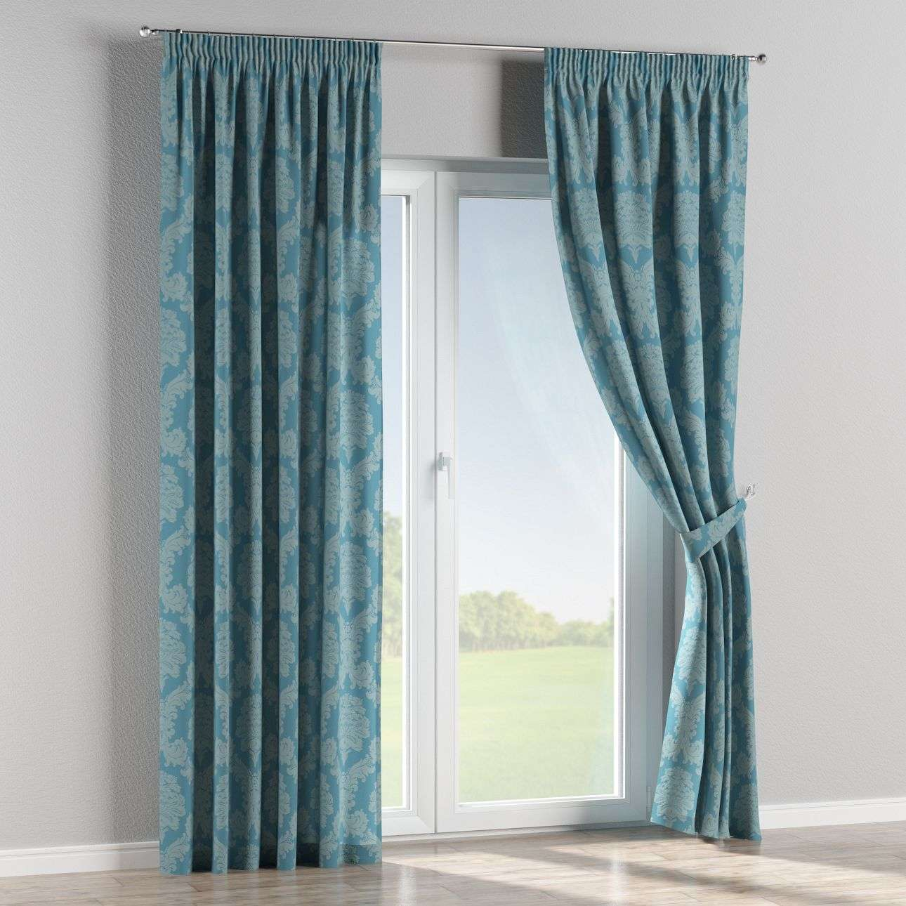 Pencil pleat curtains in collection Damasco, fabric: 613-67