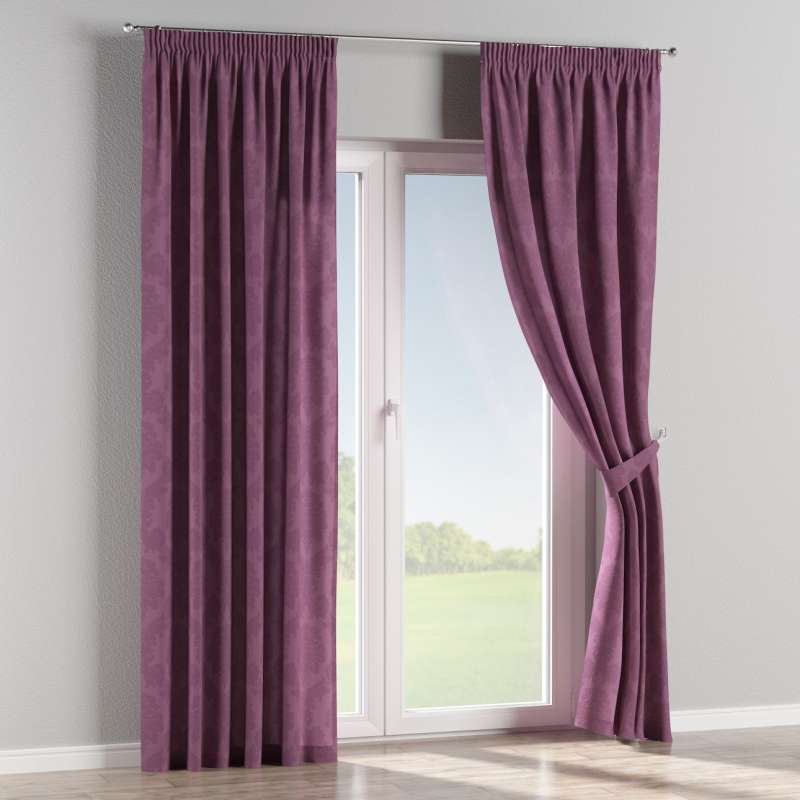 Pencil pleat curtain in collection Damasco, fabric: 613-75
