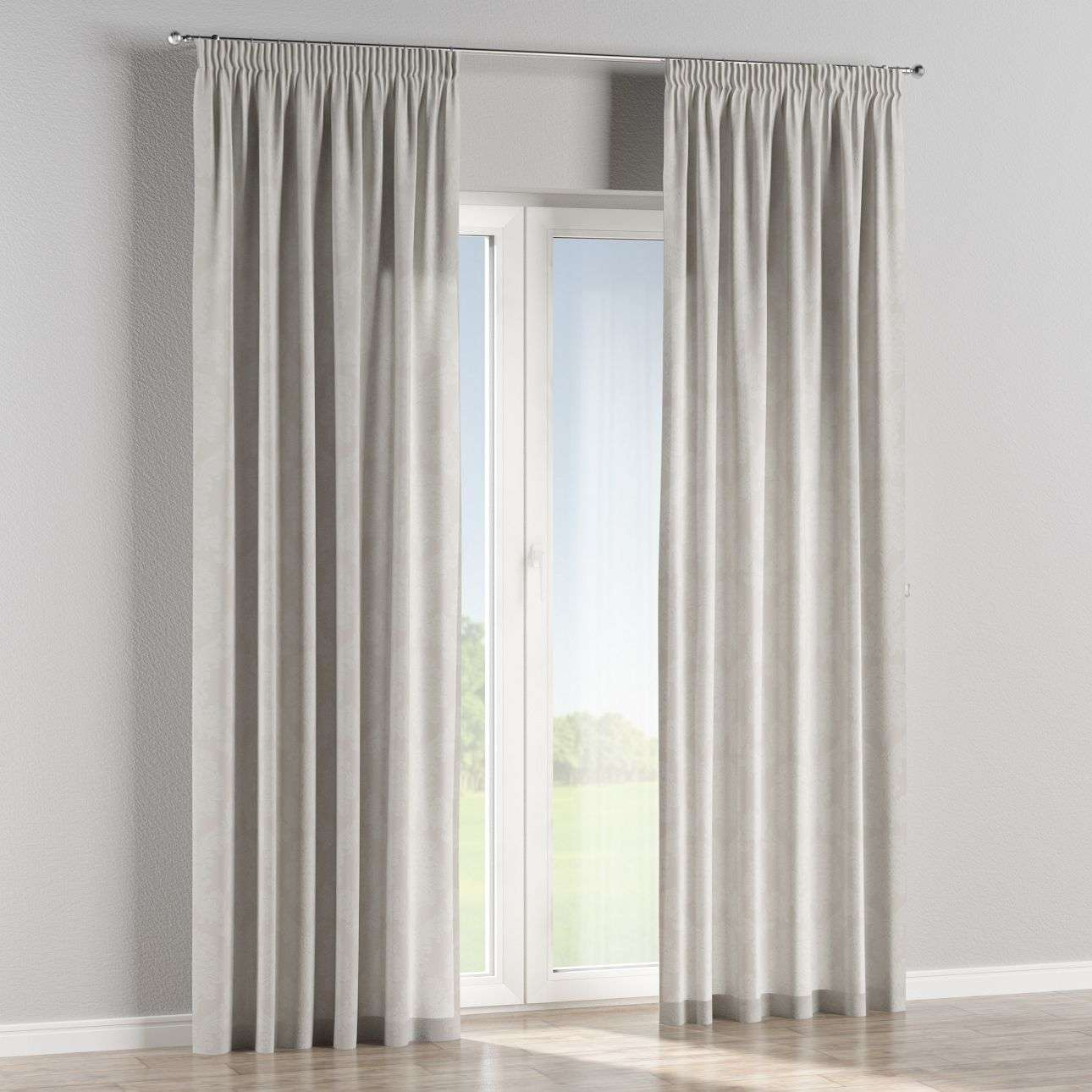 Pencil pleat curtains in collection Damasco, fabric: 613-81