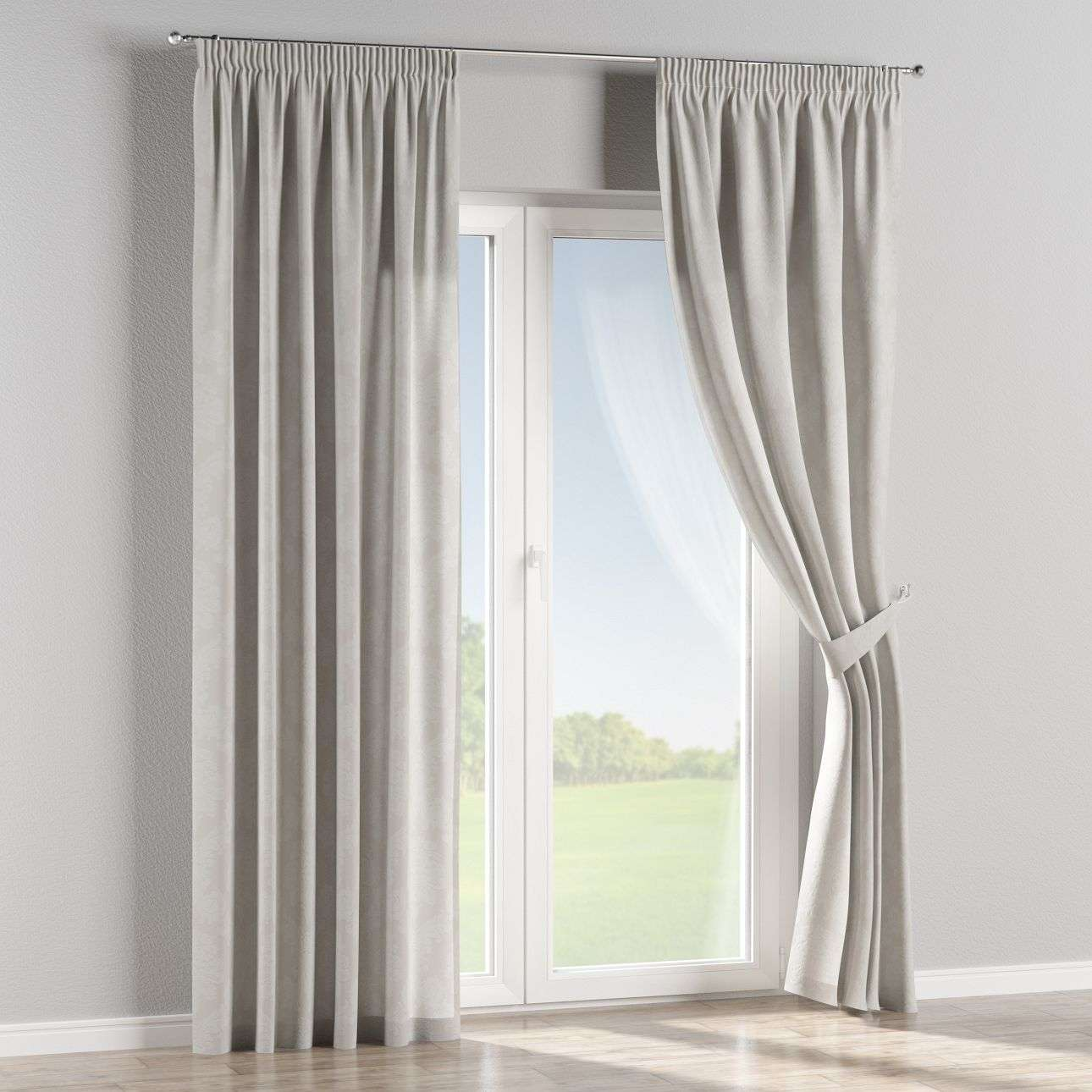 Pencil pleat curtains 130 x 260 cm (51 x 102 inch) in collection Damasco, fabric: 613-81