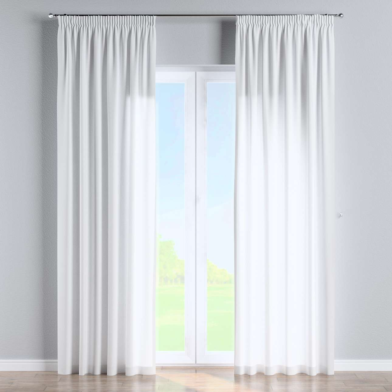 Pencil pleat curtains 130 × 260 cm (51 × 102 inch) in collection Loneta , fabric: 133-02