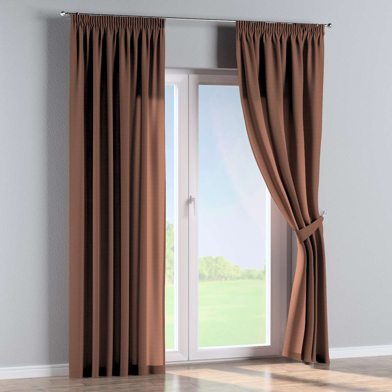 Pencil pleat curtains 130 x 260 cm (51 x 102 inch) in collection Loneta , fabric: 133-09