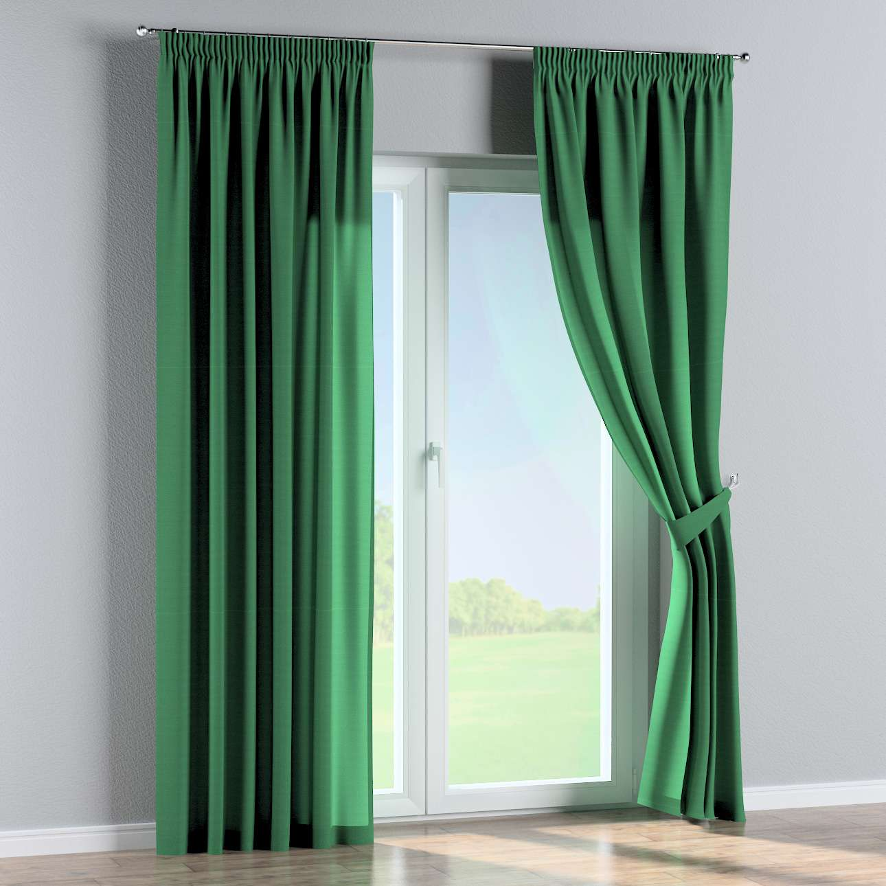 Pencil pleat curtains 130 x 260 cm (51 x 102 inch) in collection Loneta , fabric: 133-18