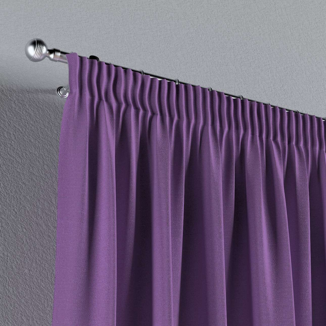 Pencil pleat curtains 130 x 260 cm (51 x 102 inch) in collection Loneta , fabric: 133-19