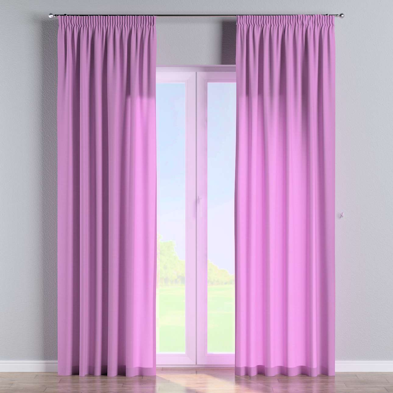 Pencil pleat curtains 130 x 260 cm (51 x 102 inch) in collection Loneta , fabric: 133-38