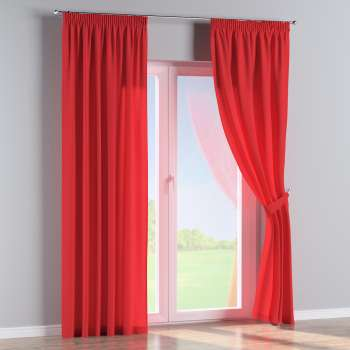 Pencil pleat curtains 130 x 260 cm (51 x 102 inch) in collection Loneta , fabric: 133-43