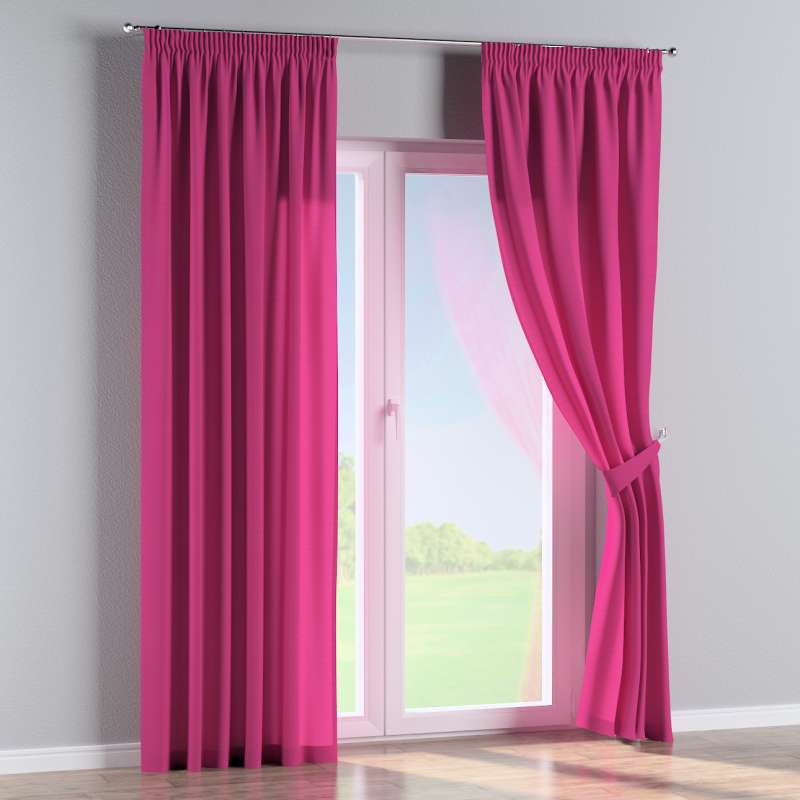 Pencil pleat curtain in collection Loneta , fabric: 133-60