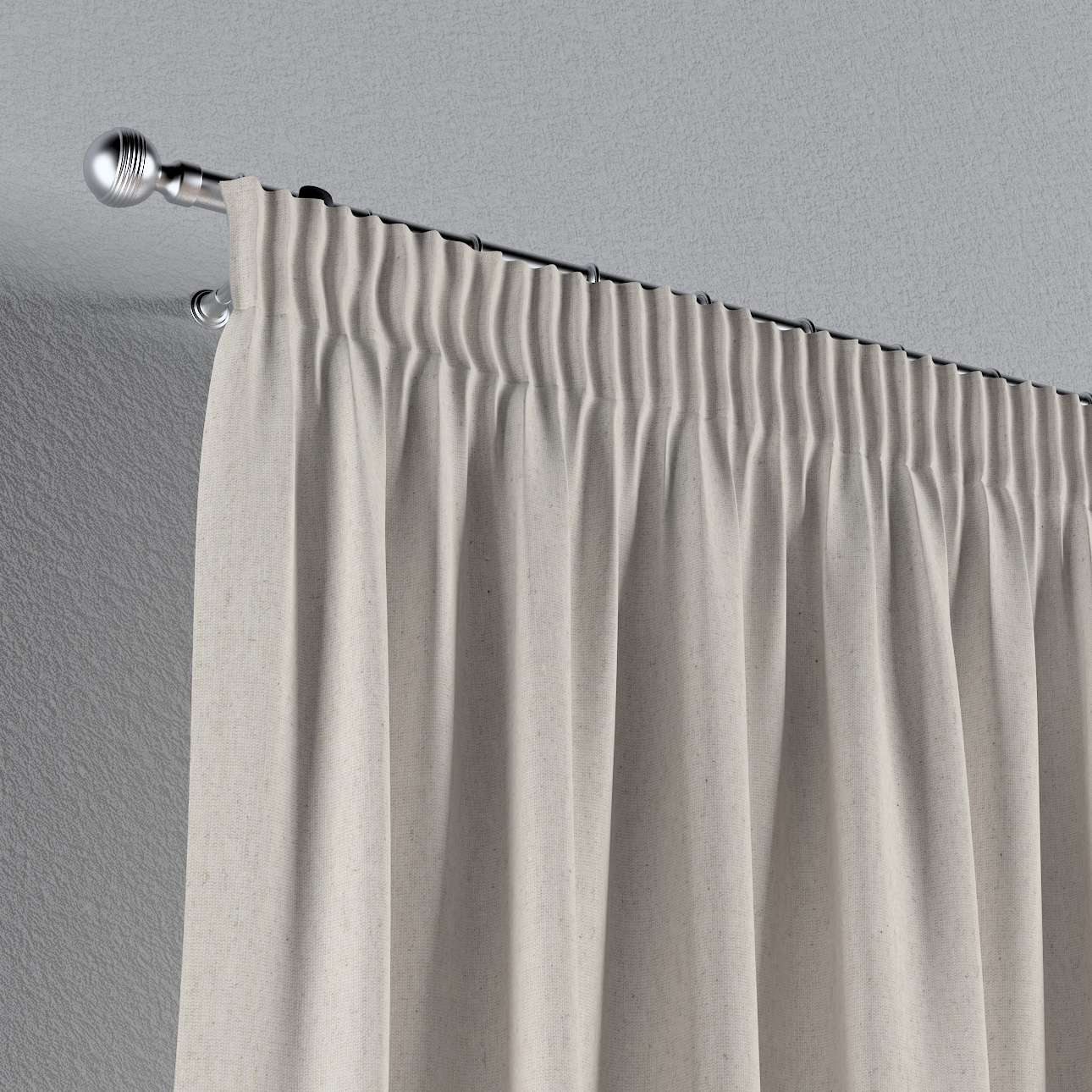 Pencil pleat curtain in collection Loneta , fabric: 133-65