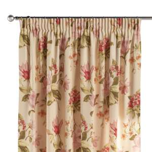 Pencil pleat curtains 130 x 260 cm (51 x 102 inch) in collection Londres, fabric: 123-05