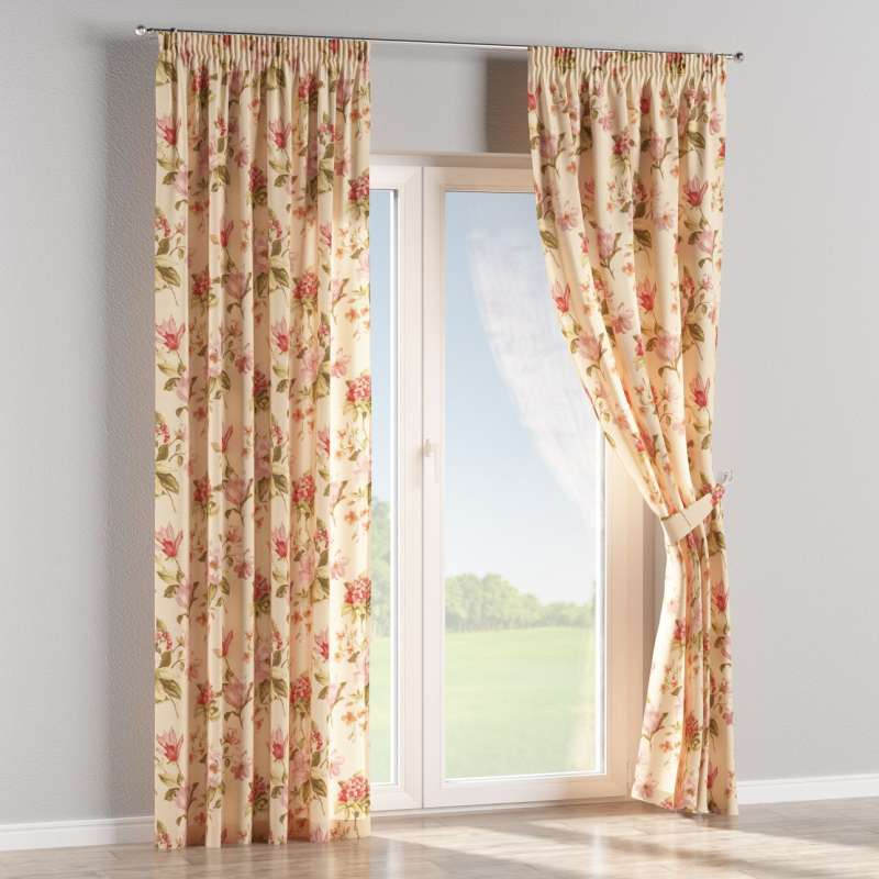 Pencil pleat curtains in collection Londres, fabric: 123-05