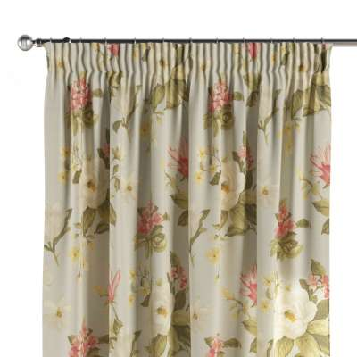 Pencil pleat curtains in collection Londres, fabric: 123-65