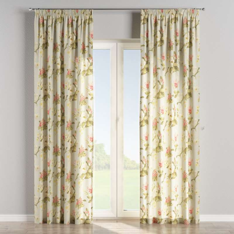 Pencil pleat curtain in collection Londres, fabric: 123-65