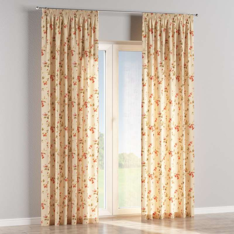 Pencil pleat curtain in collection Londres, fabric: 124-05
