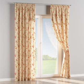 Pencil pleat curtains 130 x 260 cm (51 x 102 inch) in collection Londres, fabric: 124-05