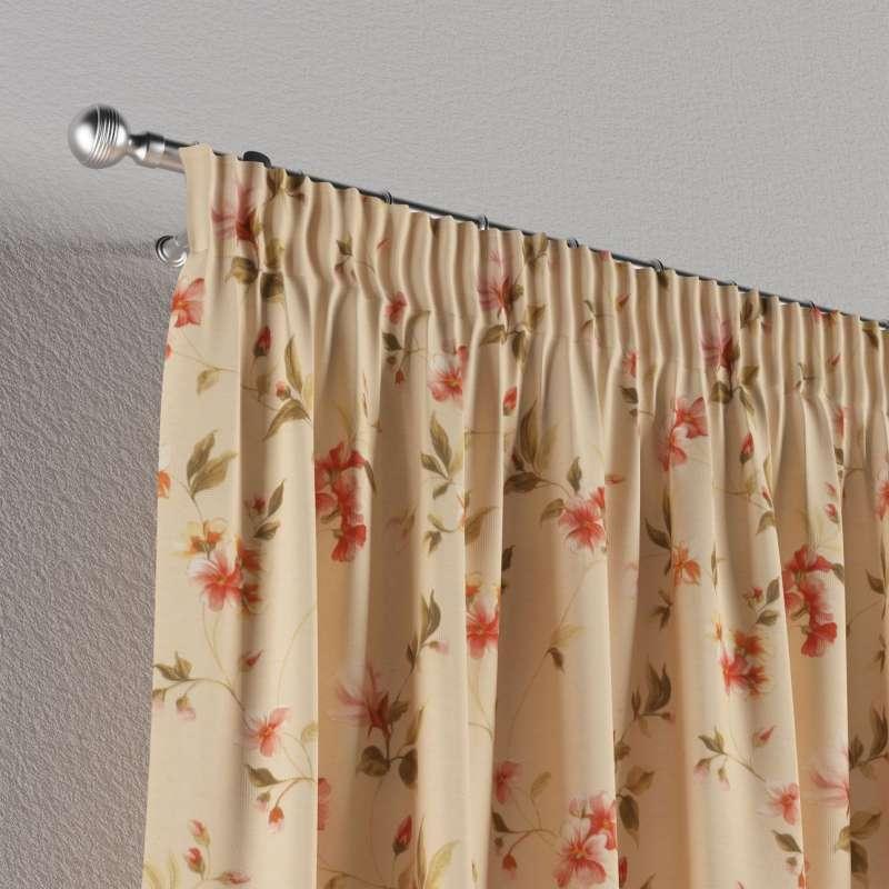 Vorhang mit Kräuselband von der Kollektion Londres, Stoff: 124-05