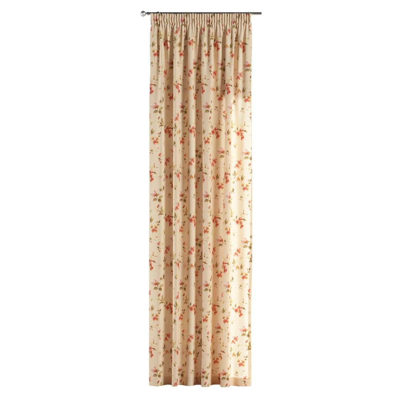 Gardin med rynkband 1 längd 130 x 260 cm i kollektionen Londres, Tyg: 124-05