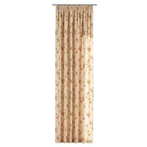Vorhang mit Kräuselband 1 Stck. 130 x 260 cm von der Kollektion Londres, Stoff: 124-05