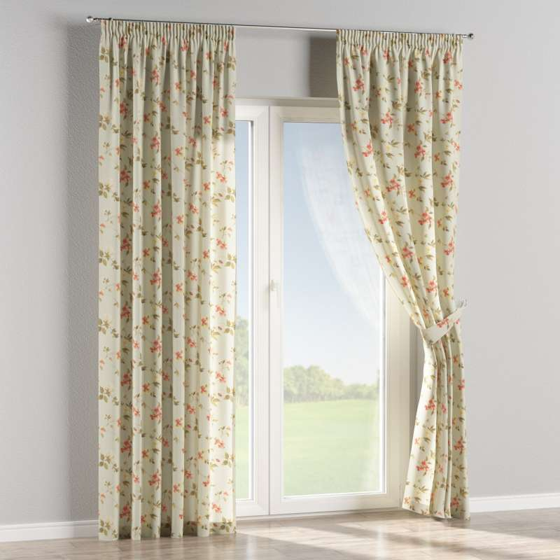 Pencil pleat curtain in collection Londres, fabric: 124-65