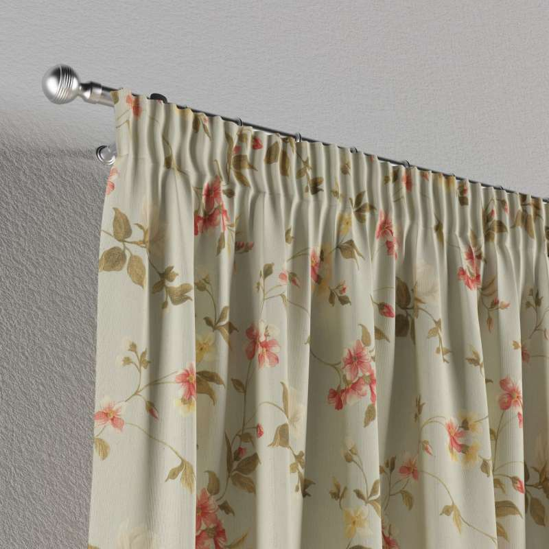 Vorhang mit Kräuselband von der Kollektion Londres, Stoff: 124-65
