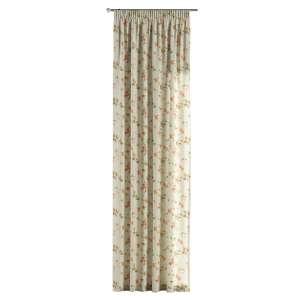 Gardin med rynkband 1 längd 130 x 260 cm i kollektionen Londres, Tyg: 124-65