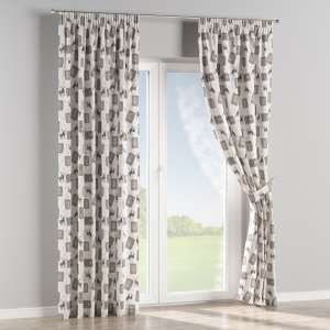 Pencil pleat curtains 130 x 260 cm (51 x 102 inch) in collection Nordic, fabric: 630-10
