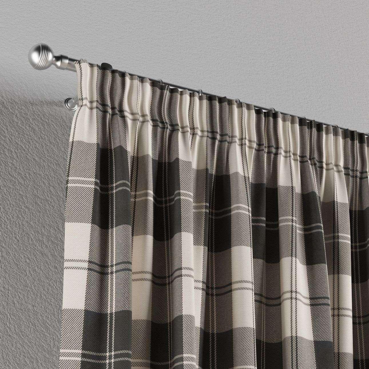 Gardin med rynkband 1 längd 130 × 260 cm i kollektionen Edinburgh , Tyg: 115-74
