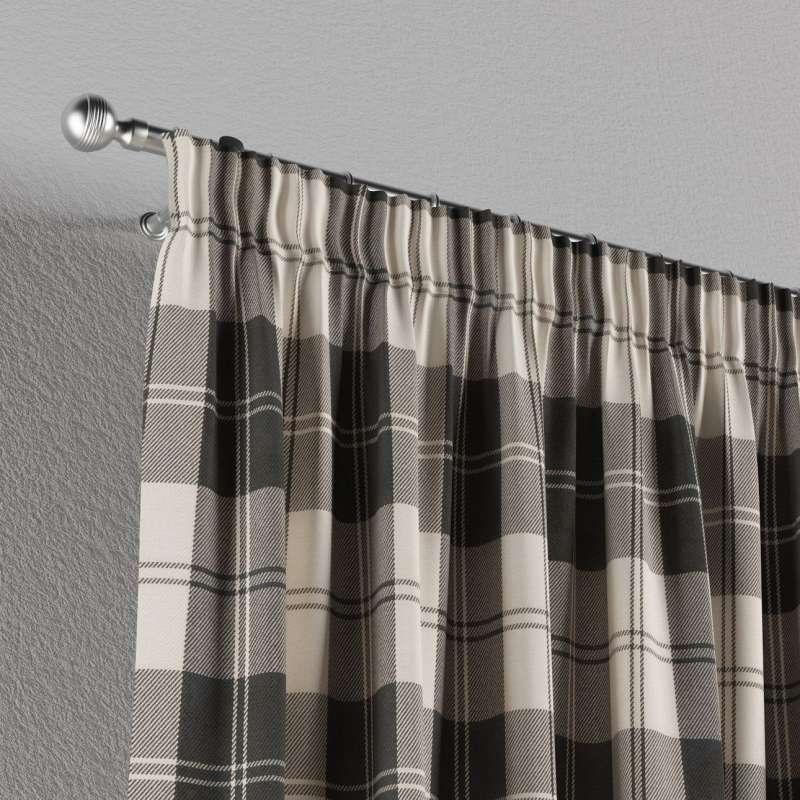 Gardin med rynkband 1 längd i kollektionen Edinburgh, Tyg: 115-74
