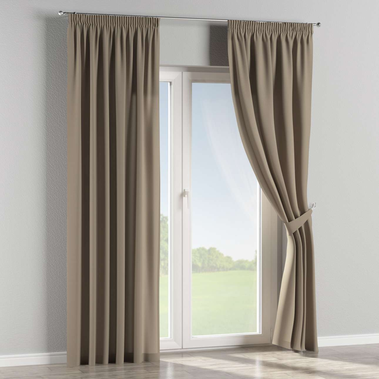 Pencil pleat curtains 130 x 260 cm (51 x 102 inch) in collection Panama Cotton, fabric: 702-28