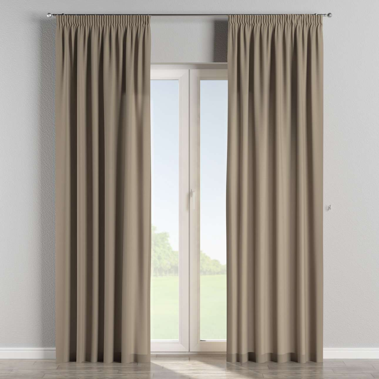 Pencil pleat curtains 130 x 260 cm (51 x 102 inch) in collection Cotton Panama, fabric: 702-28