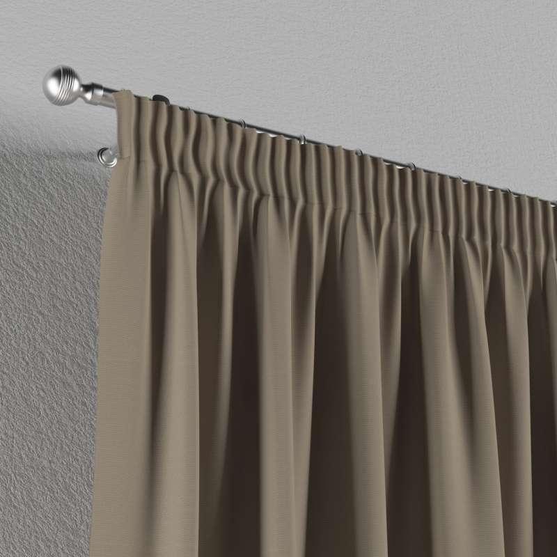 Gardin med rynkband 1 längd i kollektionen Panama Cotton, Tyg: 702-28