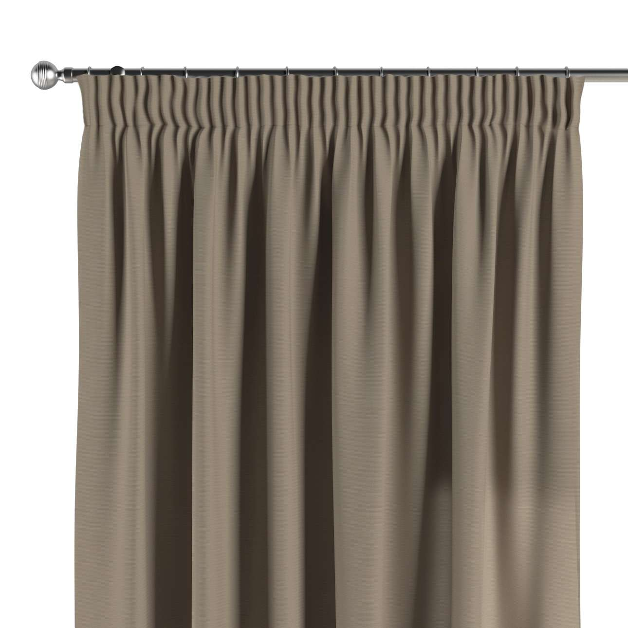Vorhang mit Kräuselband 130 x 260 cm von der Kollektion Cotton Panama, Stoff: 702-28