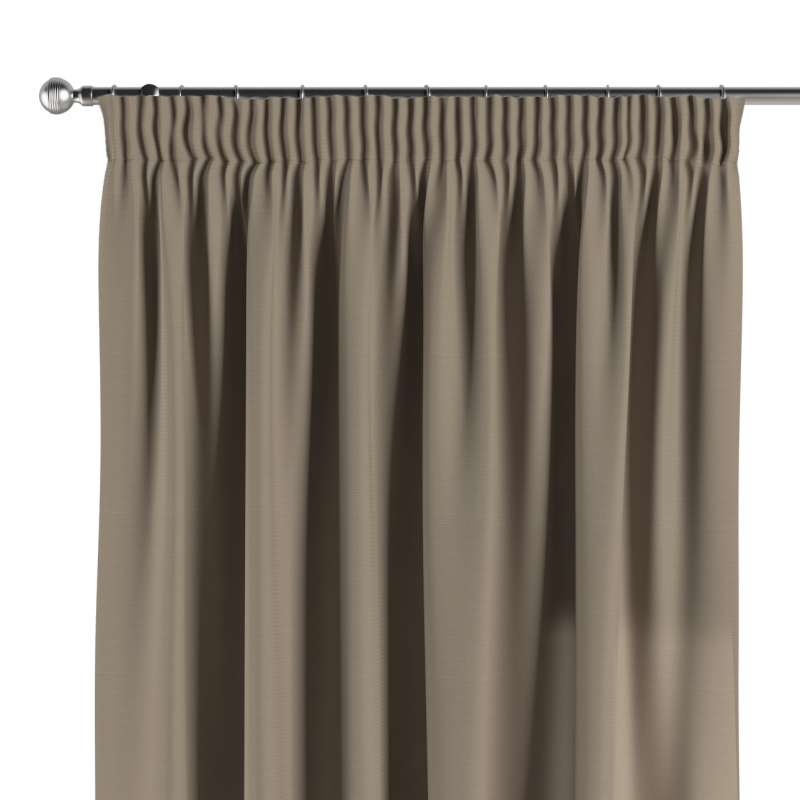Pencil pleat curtain in collection Panama Cotton, fabric: 702-28