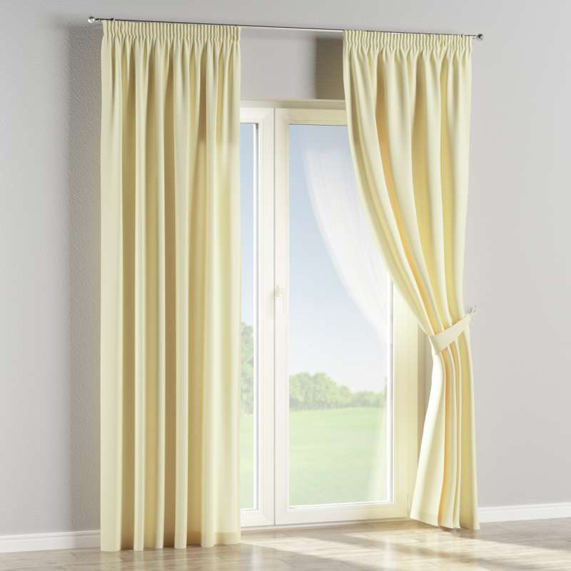 Pencil pleat curtain in collection Panama Cotton, fabric: 702-29