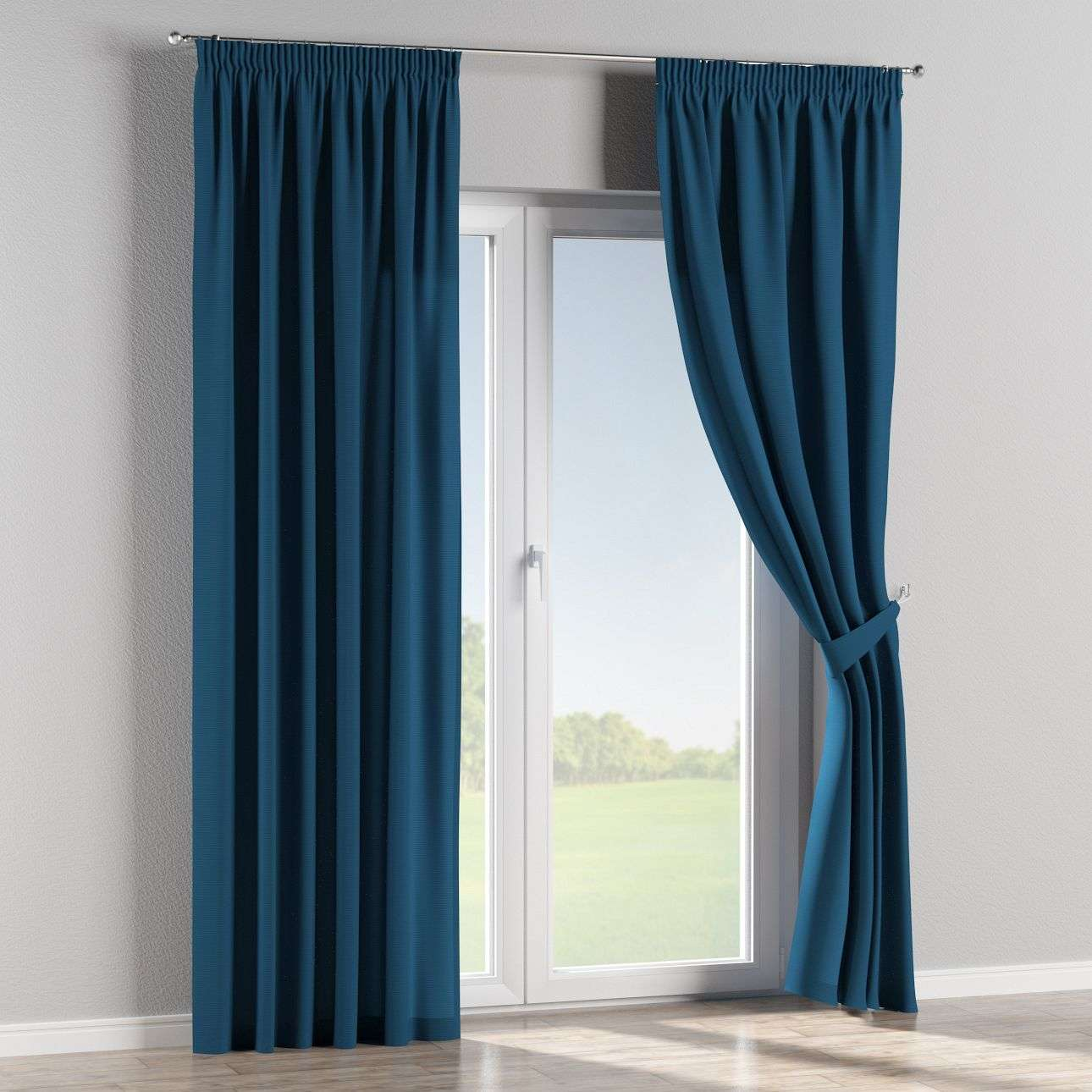 Pencil pleat curtains 130 x 260 cm (51 x 102 inch) in collection Panama Cotton, fabric: 702-30