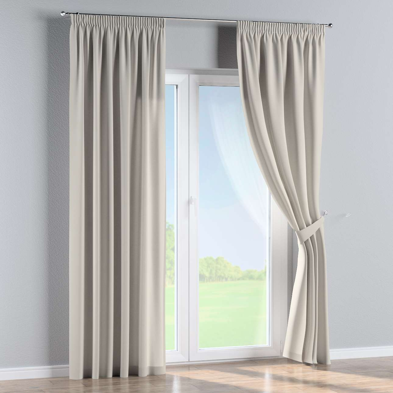 Pencil pleat curtains 130 x 260 cm (51 x 102 inch) in collection Cotton Panama, fabric: 702-31