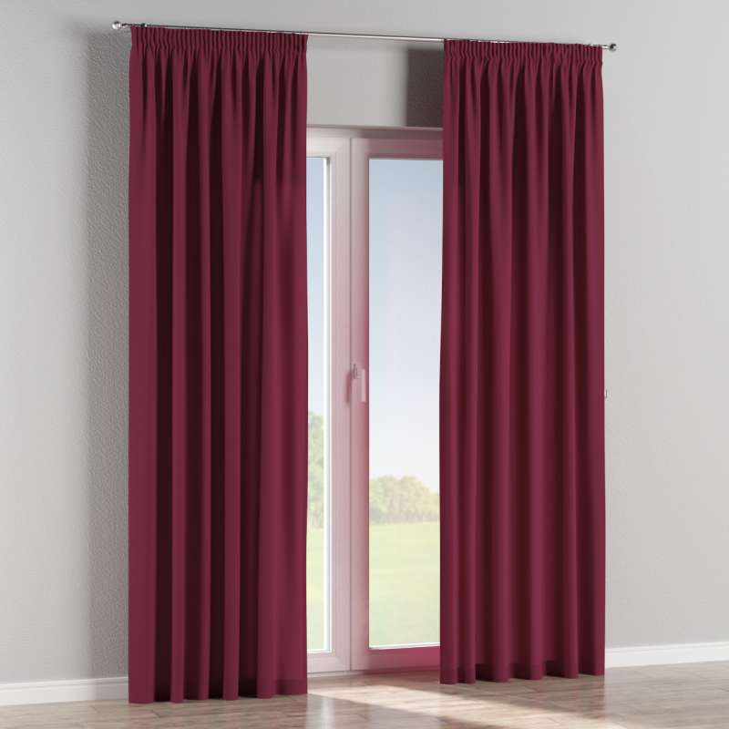 Pencil pleat curtain in collection Panama Cotton, fabric: 702-32