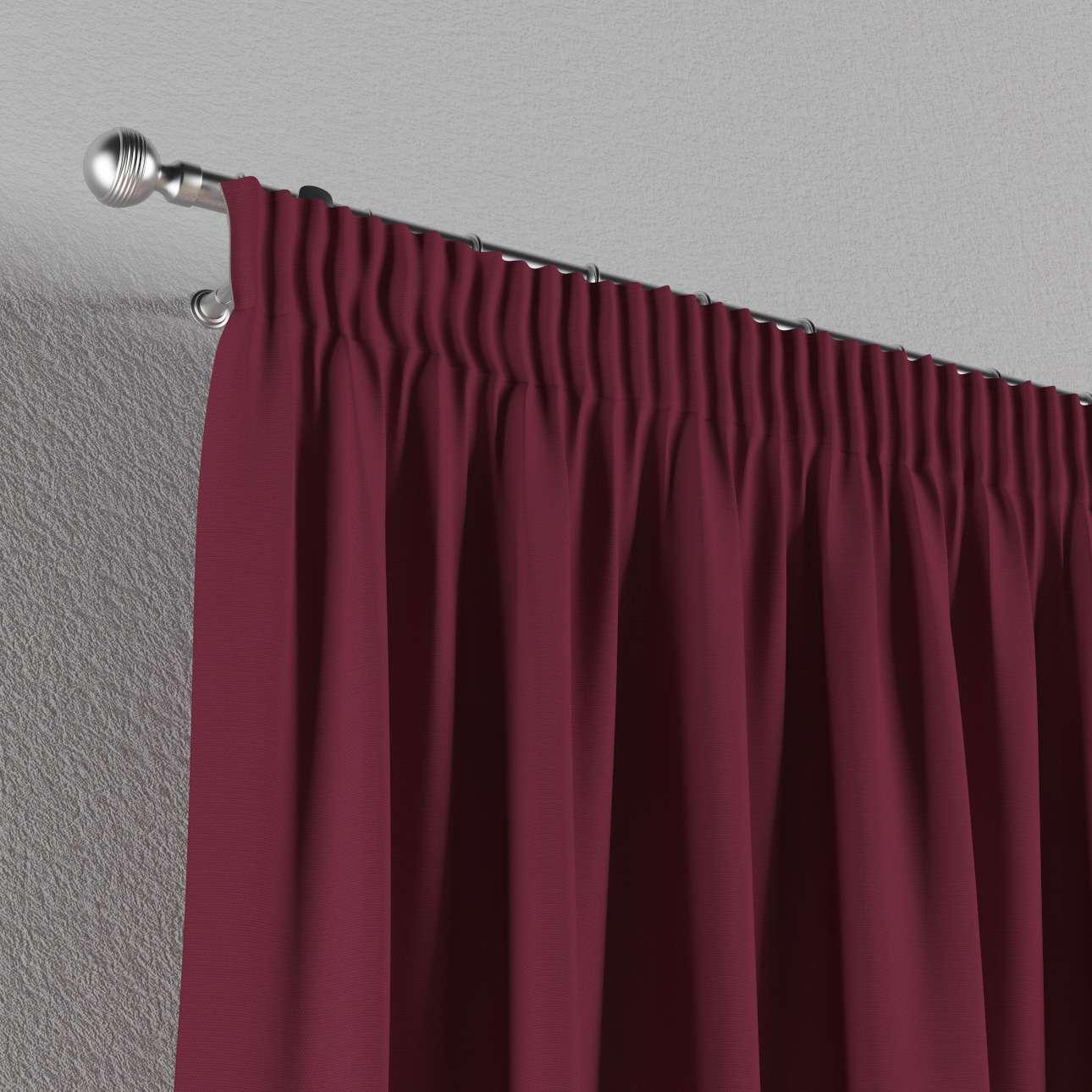 Gardin med rynkband 1 längd 130 x 260 cm i kollektionen Panama Cotton , Tyg: 702-32