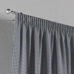 Pencil pleat curtains 130 x 260 cm (51 x 102 inch) in collection Quadro, fabric: 136-00