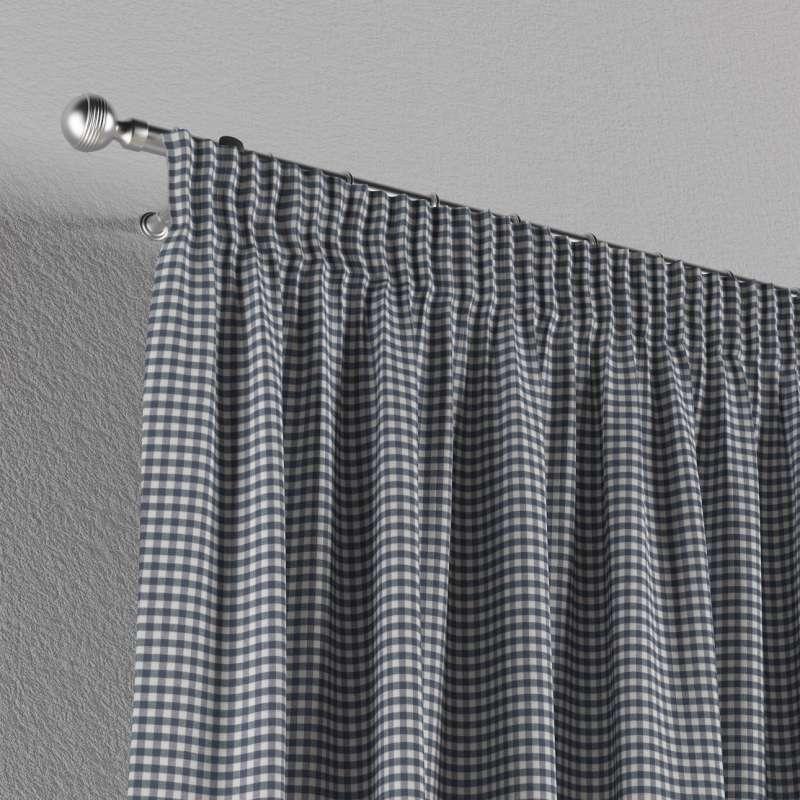 Vorhang mit Kräuselband von der Kollektion Quadro, Stoff: 136-00